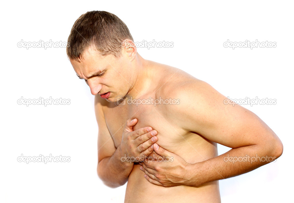 Young man having heart attack — Stock Photo #7597864