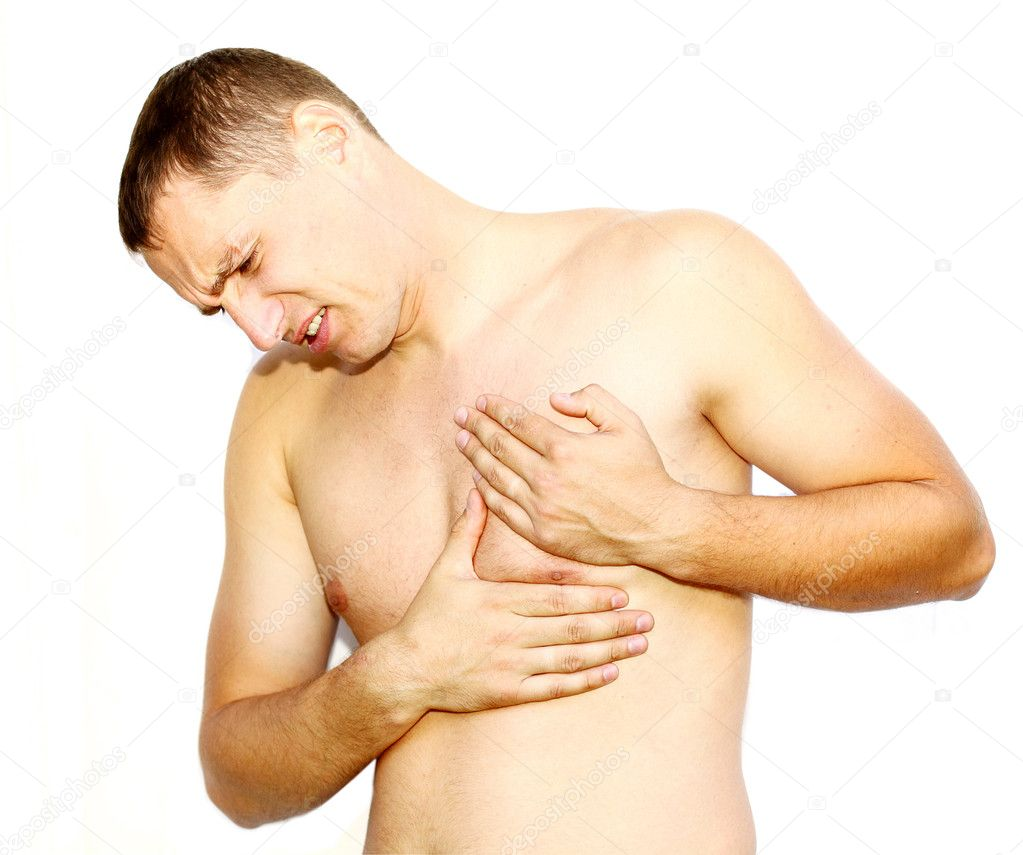 Young man having heart attack — Stock Photo #7597905