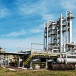 View gas processing factory. gas and oil industry — Stock Photo