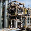 Stock Photo: View gas processing factory