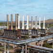 View gas processing factory — Stockfoto