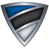 Steel shield with flag Estonia — Stock Vector