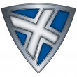 Steel shield with flag Scotland - Stock vektor
