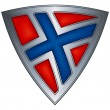 Royalty-Free Stock Vector Image: Steel shield with flag Norway