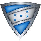 Steel shield with flag Honduras — Stock Vector