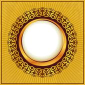 Gold vintage frame — Stock Vector