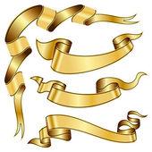 Coleção de fita de ouro — Vetor de Stock