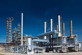 查看天然气处理厂. — 图库照片
