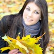 Attractive cheerful girl in park — Stock Photo #6959027