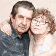 Fidelity of beautiful senior couple — Stock Photo