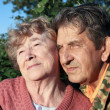 Beautiful elderly happy couple — Stock Photo #6960760