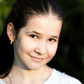Lovely little girl smiling — Stock Photo