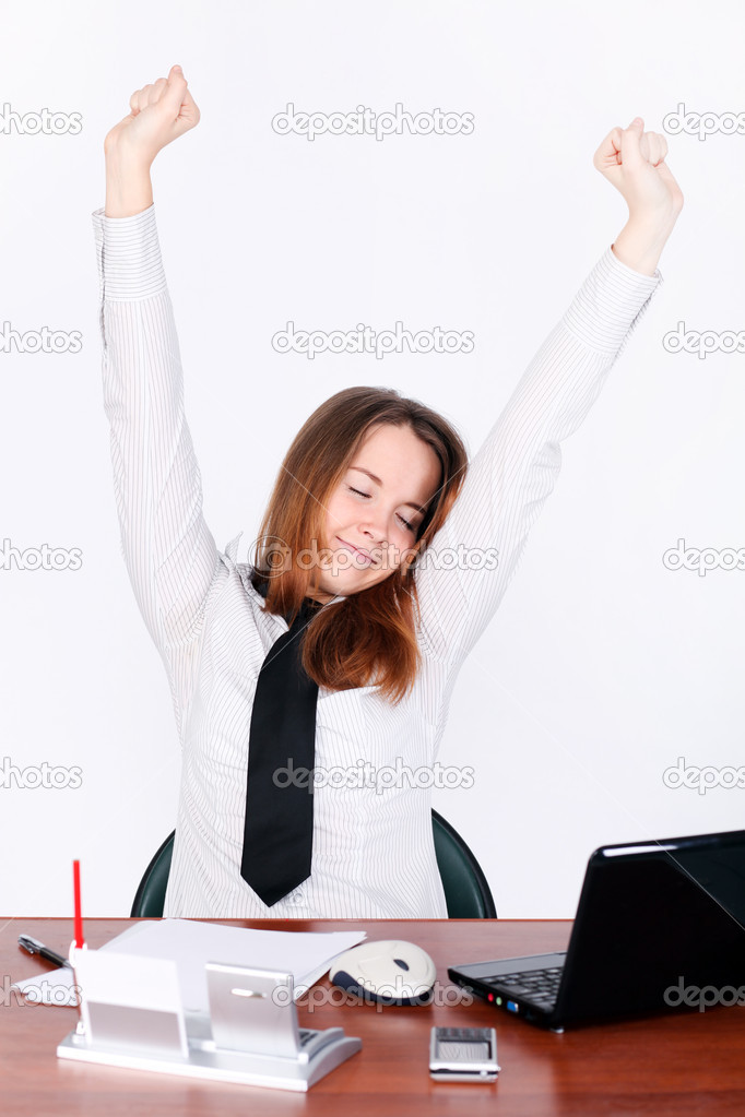 Relaxing businesswoman — Stock Photo #6960923