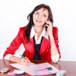Attractive businesswoman talking by phone — Stock Photo