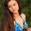 Portrait of beautiful young woman in summertime — Stock Photo