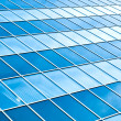 Bright background of transparent wall from glass ans steel construction — Stock Photo #6970639
