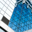 Stock Photo: Contemporary blue pane of business building