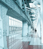 Glazed corridor in office center — Stock Photo