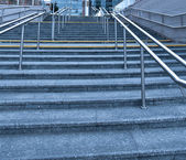 Modern staircase near office center — Stock Photo