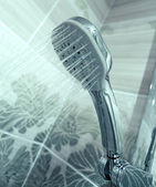 Water shower in bathroom — Stock Photo