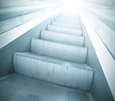 Steps of escalator in business center — Stock Photo