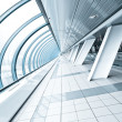 Wide spacious corridor in contemporary airport walkway — Stock Photo #7291707