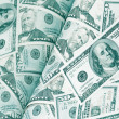 Magazine of dollars money background - Stock Photo