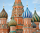 Famous Head of St. Basil's Cathedral on Red square, Moscow, Russ — Stock Photo