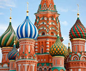 Famous Head of St. Basil's Cathedral on Red square, Moscow, Russ — Stockfoto