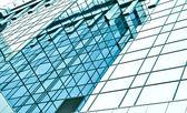 Panoramautsikt glas skyskraporna i downtown, business bakgrund — Stockfoto