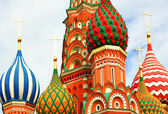 Domes of the famous Head of St. Basil's Cathedral on Red square, — Photo