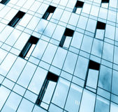 Glass pane of downtown property in futuristic modern style — Stock Photo