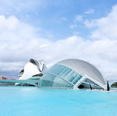 VALENCIA, SPAIN - JULY 22: Hemisferic in The City of Arts and Sciences on J — Stock Photo