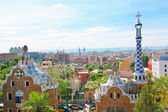 BARCELONA, SPAIN - JULY 25: The famous Park Guell on July 25, 2011 in Barce — Stock Photo