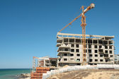 Construction on the beach. — Stock Photo