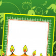 Vector greeting card for deepawali celebration — Stock Photo