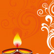 Greeting card for deepawali holiday celebration — Stock Photo