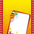 Deepawali celebration greeting card — Stock Photo