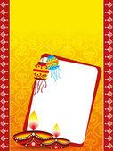 Deepawali celebration greeting card — Stock Photo