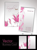 Vector floral theme gift cards — Stock Vector