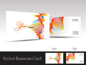 Colorful abstract wave background vector business card — Stock Vector