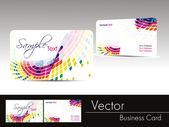 Multicolor wave background business card — Stock Vector