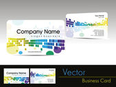Colorful abstract design visiting card — Stock Vector