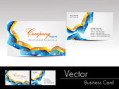 Multicolor wave concept business card, vector illustration — Stock Vector