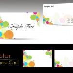 Vector set of horizontal business card — Stock Vector