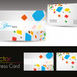 Set of colorful design business cards — Stock Vector
