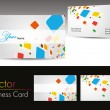 Set of colorful design business cards — Stock Vector #7024675