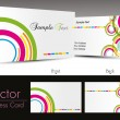 Set of elegant business cards, vector illustration — Stock Vector #7024725