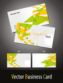 Elegant theme business cards templates — Stock Vector