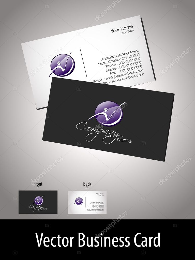 Vector professional business card with presentation — Vettoriali Stock  #7024887